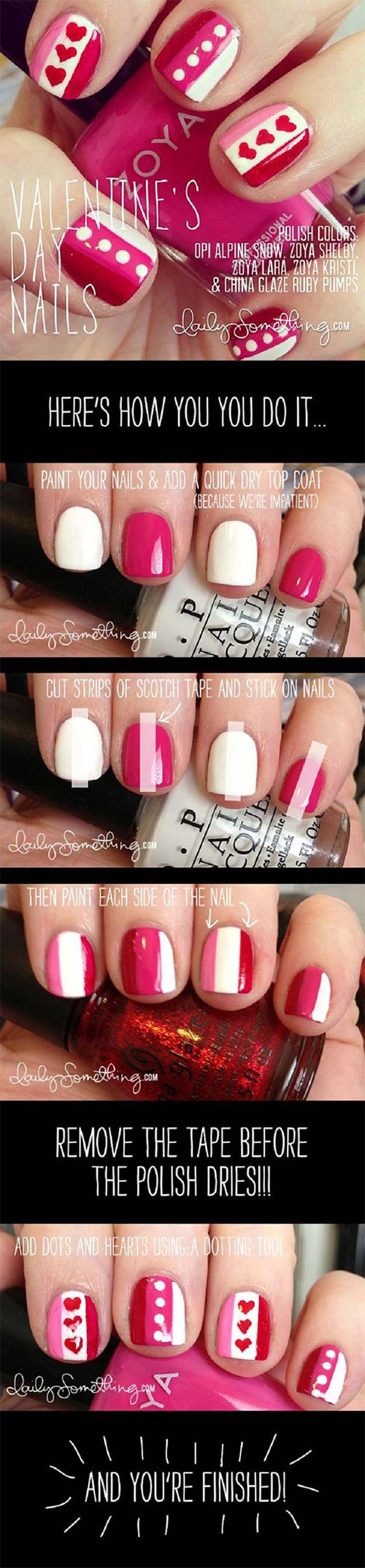 35 fabulous valentine nail art ideas valentine nail art ideas valentines day nail art cute and cool looks for valentines solutioingenieria Choice Image