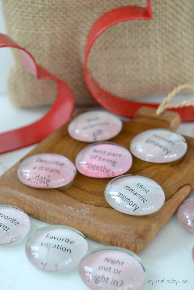 DIY Valentine Gifts - Valentine Conversation Stones - Gifts for Her and Him, Teens, Teenagers and Tweens - Mason Jar Ideas, Homemade Cards, Cheap and Easy Gift Ideas for Valentine Presents http://diyprojectsforteens.com/diy-valentine-gifts