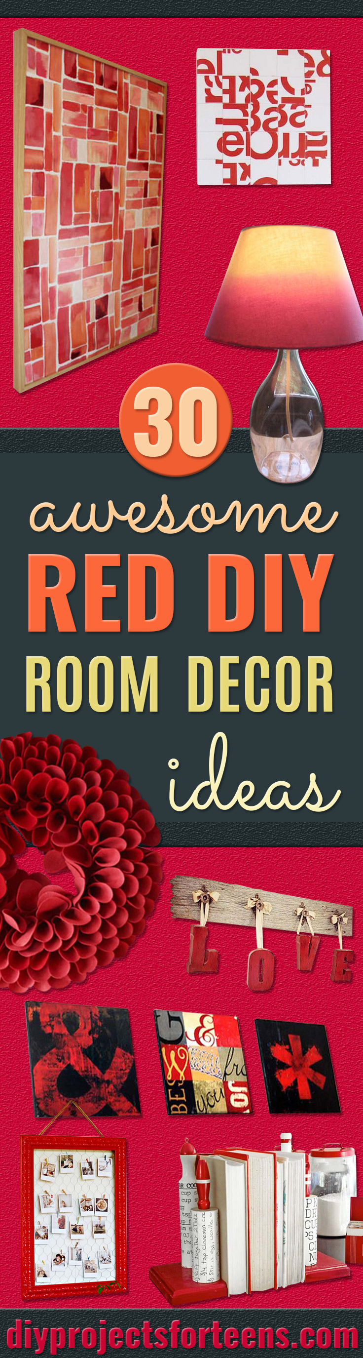 30 brilliant red diy room decor ideas - Cool ways to decorate your room ...