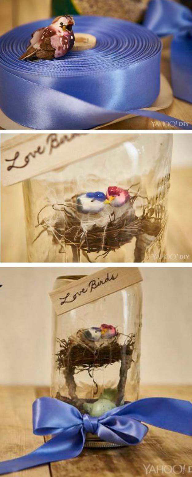 31 Love Birds Mason Jar Valentines Day Gift Diy Projects For Teens
