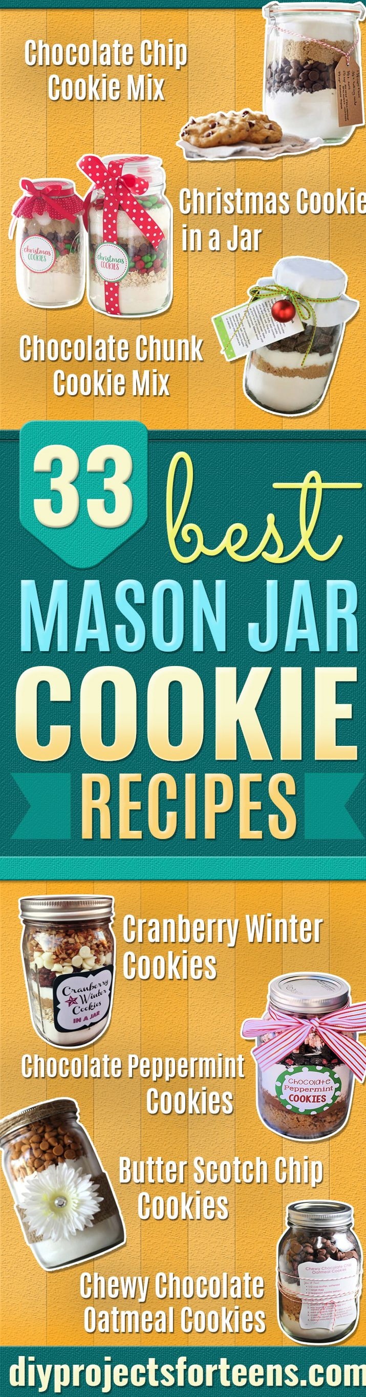 Best Mason Jar Cookies - Mason Jar Cookie Recipe Mix for Cute Decorated DIY Gifts - Easy Chocolate Chip Recipes, Christmas Presents and Wedding Favors in Mason Jars - Fun Ideas for DIY Parties, Easy Recipes for Teens, Teenagers, Kids and Teens - Cheap Last Mintue Gift Ideas for Friends, Family and Neighbors