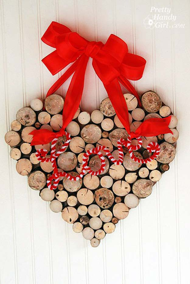 diy valentine decor ideas a valentines day wreath from tree branches cute and easy