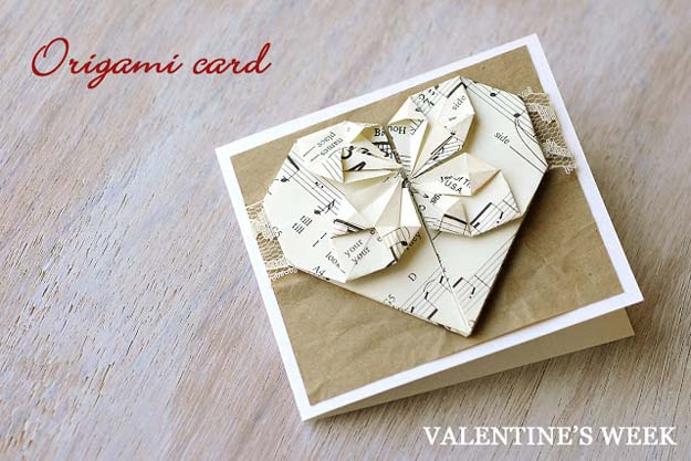 DIY Valentine Gifts - Origami Valentine's Day Card - Gifts for Her and Him, Teens, Teenagers and Tweens - Mason Jar Ideas, Homemade Cards, Cheap and Easy Gift Ideas for Valentine Presents http://diyprojectsforteens.com/diy-valentine-gifts
