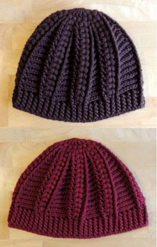 "Crochet Patterns and Projects for Teens - ""Cable"" Cap - Best Free Patterns and Tutorials for Crocheting Cute DIY Gifts, Room Decor and Accessories - How To for Beginners - Learn How To Make a Headband, Scarf, Hat, Animals and Clothes DIY Projects and Crafts for Teenagers #crochet #crafts #teencrafts #freecrochet #crochetpatterns"