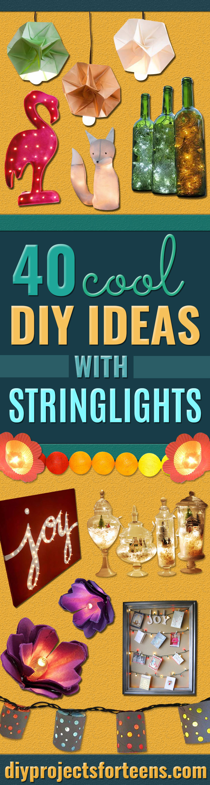 Cool Ways To Use Christmas Lights -Best Easy DIY Ideas for String Lights for Room Decoration, Home Decor and Creative DIY Bedroom Lighting - Creative Christmas Light Tutorials with Step by Step Instructions - Creative Crafts and DIY Projects for Teens, Teenagers and Adults #diyideas #stringlights #diydecor #teencrafts
