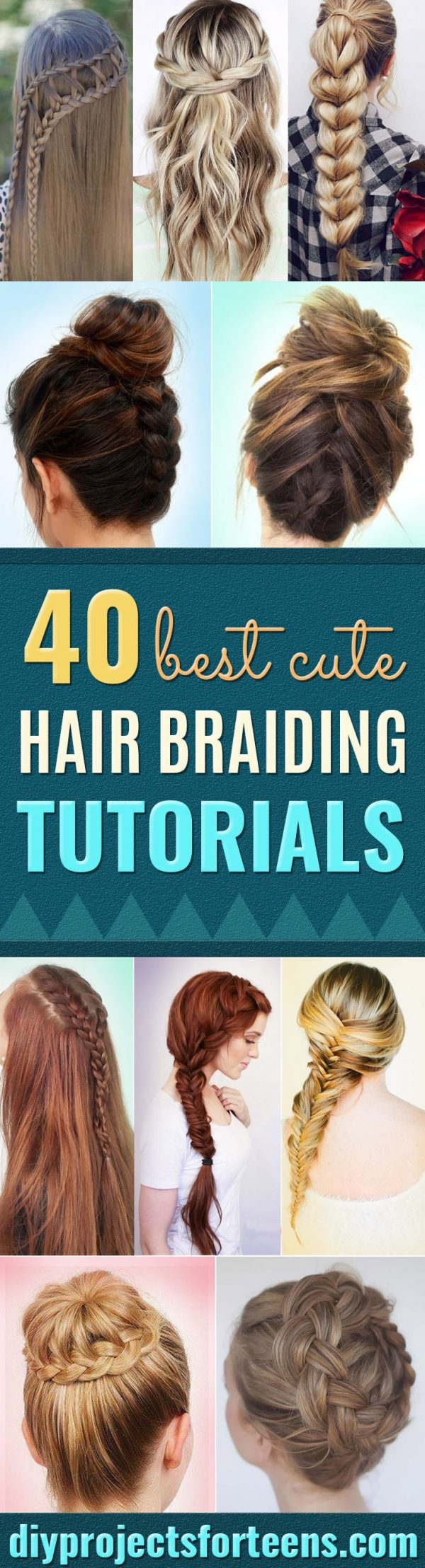 Best Hair Braiding Tutorials - Easy Step by Step Tutorials for Braids - How To Braid Fishtail, French Braids, Flower Crown, Side Braids, Cornrows, Updos - Cool Braided Hairstyles for Girls, Teens and Women - School, Day and Evening, Boho, Casual and Formal Looks #hairstyles #braiding #braidingtutorials #diyhair