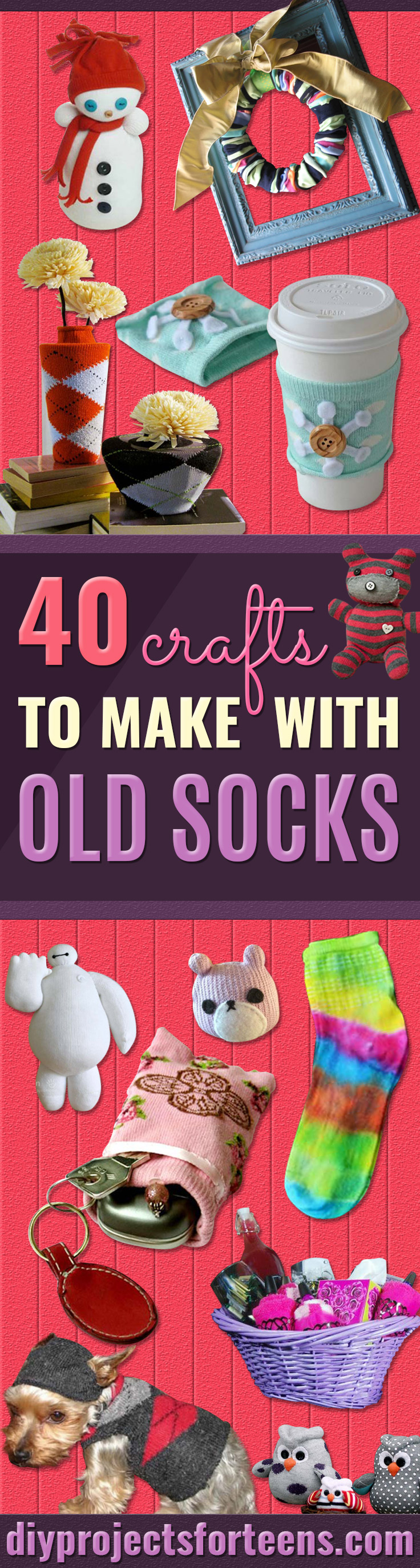Cool Crafts Made With Old Socks - Fun DIY Projects and Gifts You Can Make With A Sock - Easy DIY Ideas for Teens, Teenagers, Kids and Adults - Step by Step Tutorials and Instructions for Making Room Decor, Animals, Cat, Rabbit, Owl, Puppets, Snowman, Gloves