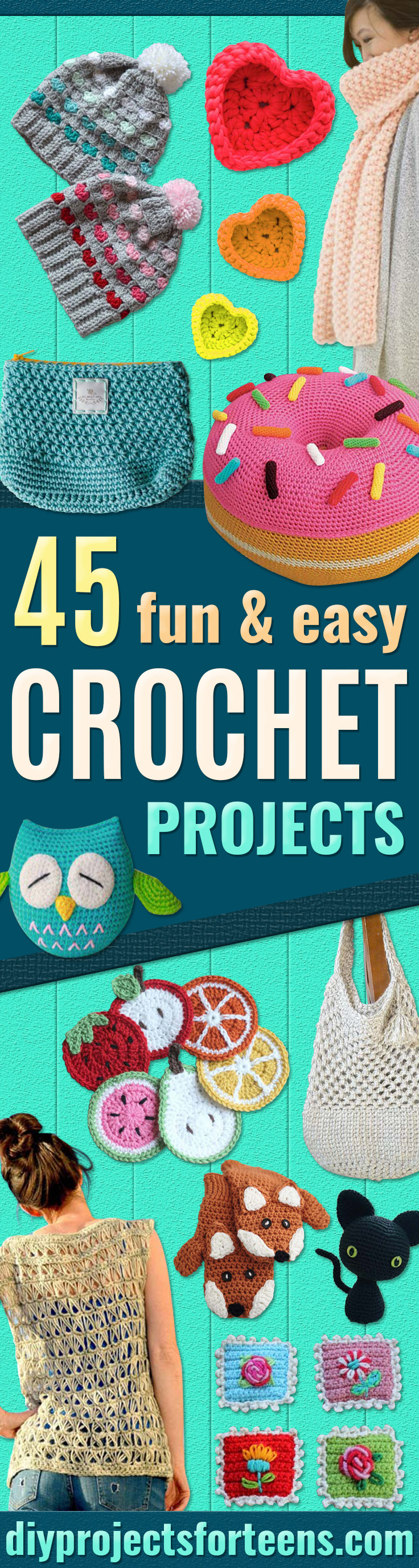 45 Crochet Projects With Free Patterns