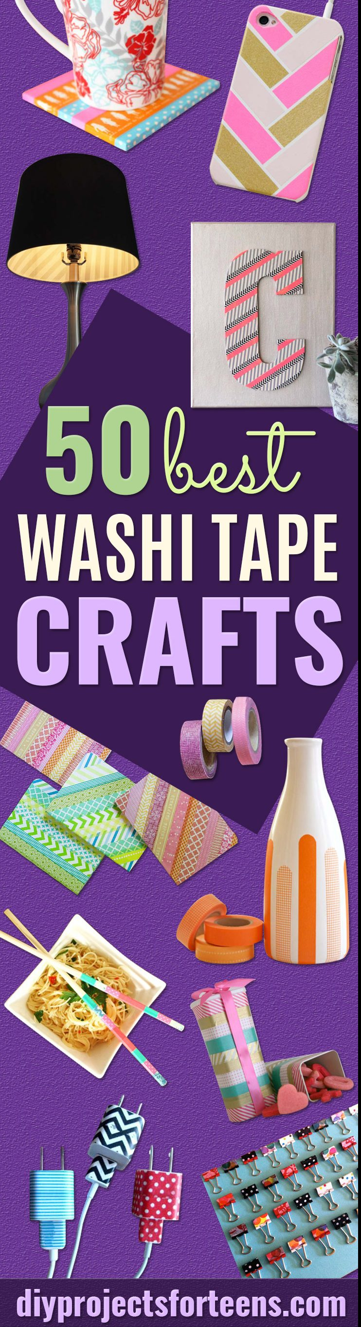 Washi Tape Crafts - Cool And Easy Teen Crafts and DIY Ideas With Washi Tape - Fun Art Ideas for Kids and Teenagers - Creative Things to Make With Washi Tapes - Colorful Arts and Crafts Ideas That Are Inexpensive to Make
