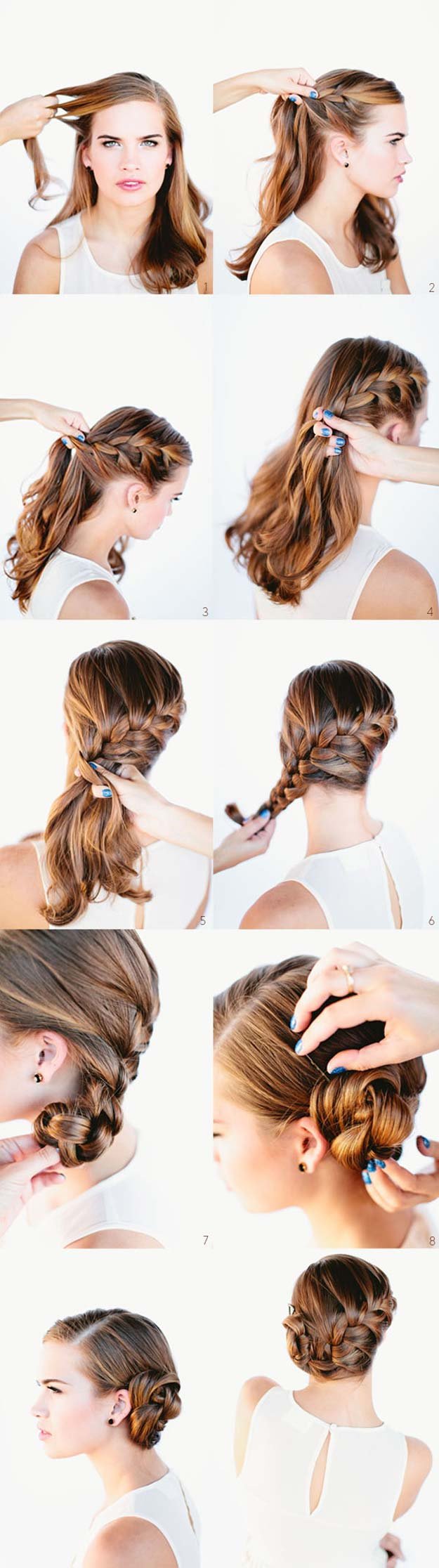 Best Hair Braiding Tutorials - French Braid Bun Tutorial - Easy Step by Step Tutorials for Braids - How To Braid Fishtail, French Braids, Flower Crown, Side Braids, Cornrows, Updos - Cool Braided Hairstyles for Girls, Teens and Women - School, Day and Evening, Boho, Casual and Formal Looks #hairstyles #braiding #braidingtutorials #diyhair
