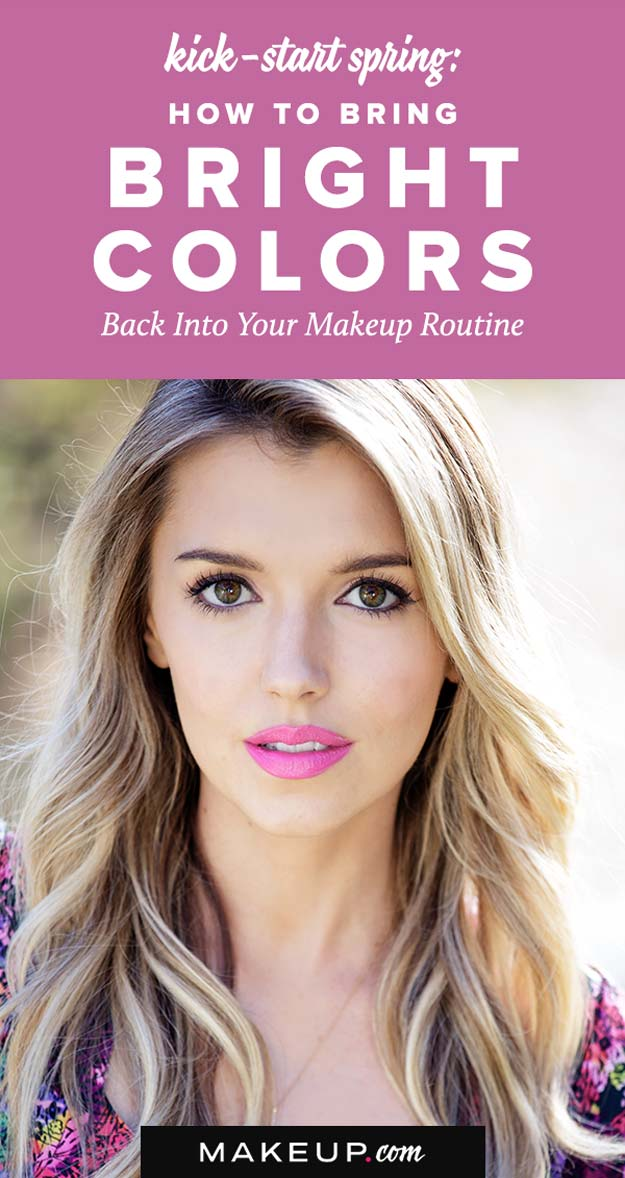 Best Makeup Tutorials for Teens -How to Bring Bright Colors Back Into Your Makeup Routine - Easy Makeup Ideas for Beginners - Step by Step Tutorials for Foundation, Eye Shadow, Lipstick, Cheeks, Contour, Eyebrows and Eyes - Awesome Makeup Hacks and Tips for Simple DIY Beauty - Day and Evening Looks http://diyprojectsforteens.com/makeup-tutorials-teens