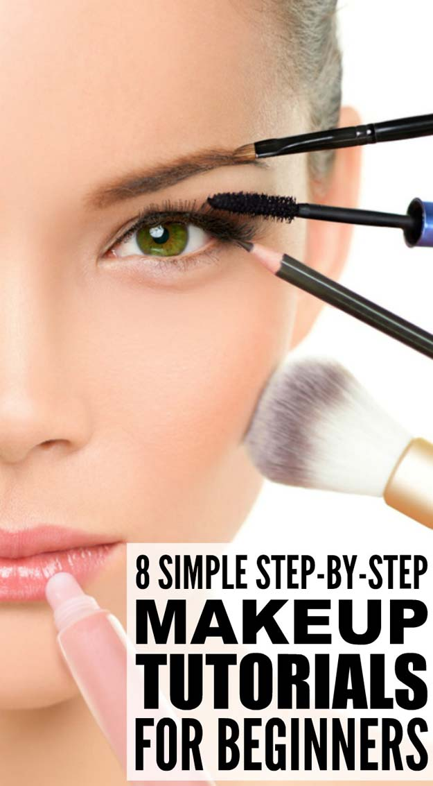 Best Makeup Tutorials for Teens -8 Step-by-step Maekup Tutorials for Beginners - Easy Makeup Ideas for Beginners - Step by Step Tutorials for Foundation, Eye Shadow, Lipstick, Cheeks, Contour, Eyebrows and Eyes - Awesome Makeup Hacks and Tips for Simple DIY Beauty - Day and Evening Looks http://diyprojectsforteens.com/makeup-tutorials-teens