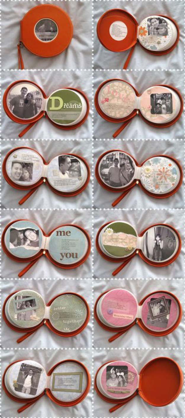 DIY Valentine Gifts - CD Wallet Scrapbook - Gifts for Her and Him, Teens, Teenagers and Tweens - Mason Jar Ideas, Homemade Cards, Cheap and Easy Gift Ideas for Valentine Presents http://diyprojectsforteens.com/diy-valentine-gifts