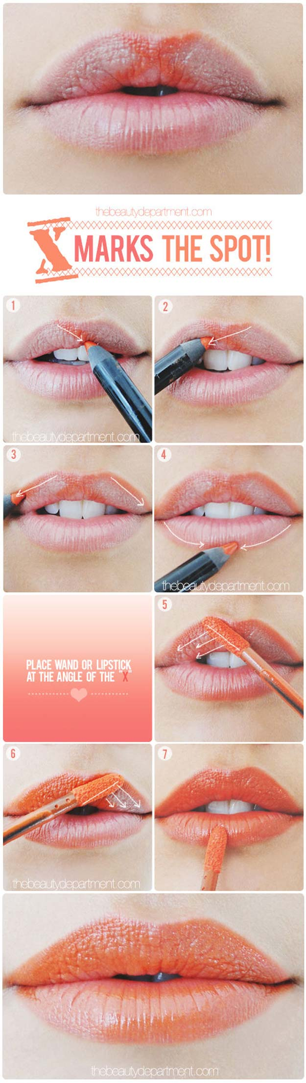 Lipstick Tutorials - Best Step by Step Makeup Tutorial How To - A Little Lip Trick - Easy and Quick Ways to Apply Lipstick and Awesome Beauty Ideas - Cool Ideas for Teen Makeup for School, Party and Special Occasion - Makeup Tutorials for Beginners - Lip Liner Tips and Tricks to Add Volume, DIY Lip Techniques for Fuller Lips - DIY Projects and Crafts for Teens