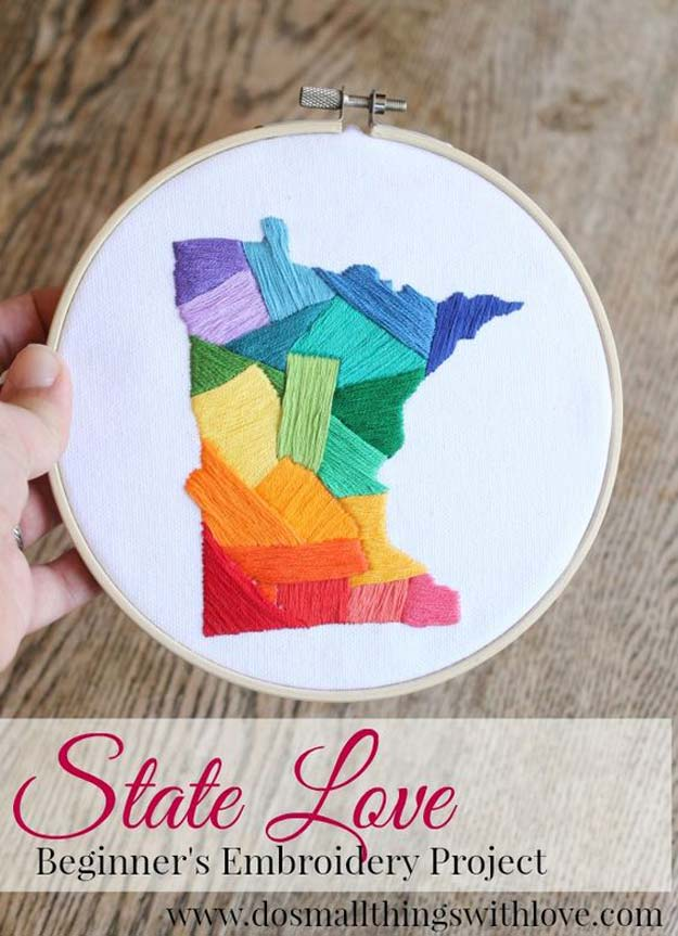 Cool Embroidery Projects for Teens - Step by Step Embroidery Tutorials - Beginner's Embroidery Project - Awesome Embroidery Projects for Teenagers - Cool Embroidery Crafts for Girls - Creative Embroidery Designs - Best Embroidery Wall Art, Room Decor - Great Embroidery Gifts, Free Embroidery Patterns for Girls, Women and Tweens http://diyprojectsforteens.com/cool-embroidery-projects-teens