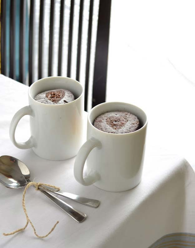Easy Mug Cake Recipes - Chocolate Espresso Microwave Mug Cake - Best Microwave Cakes and Ideas for Baking Ckae in The Microwave - Chocolate, Vanilla, Healthy, Snickerdoodle, Peanut Butter, Bownie and Nutella - Step by Step Tutorials and Instructions - Besy DIY Projects and Recipes for Teens and Teenagers - http://diyprojectsforteens.com/easy-mug-cake-recipes