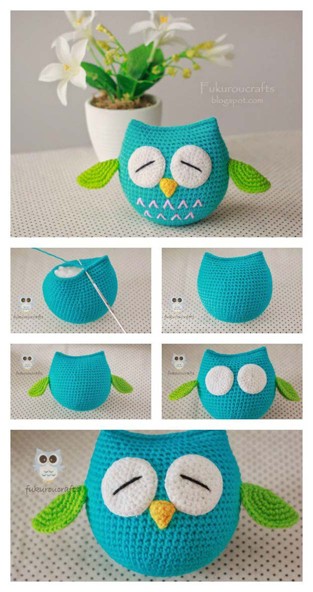 Crochet Patterns and Projects for Teens - Crochet Owl - Best Free Patterns and Tutorials for Crocheting Cute DIY Gifts, Room Decor and Accessories - How To for Beginners - Learn How To Make a Headband, Scarf, Hat, Animals and Clothes DIY Projects and Crafts for Teenagers #crochet #crafts #teencrafts #freecrochet #crochetpatterns
