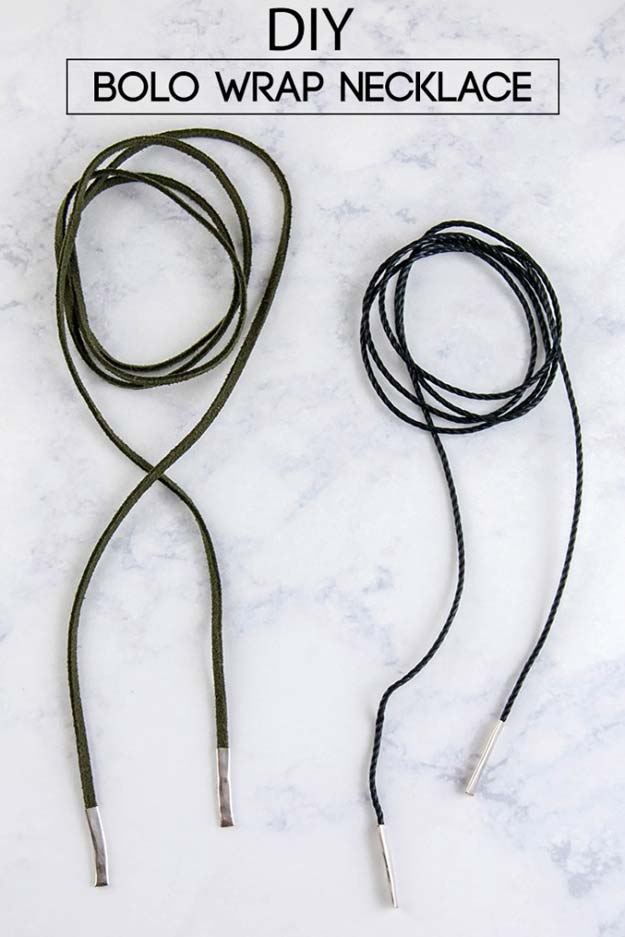DIY Necklace Ideas - DIY Bolo Wrap Necklace - Pendant, Beads, Statement, Choker, Layered Boho, Chain and Simple Looks - Creative Jewlery Making Ideas for Women and Teens, Girls - Crafts and Cool Fashion Ideas for Teenagers http://diyprojectsforteens.com/diy-necklaces