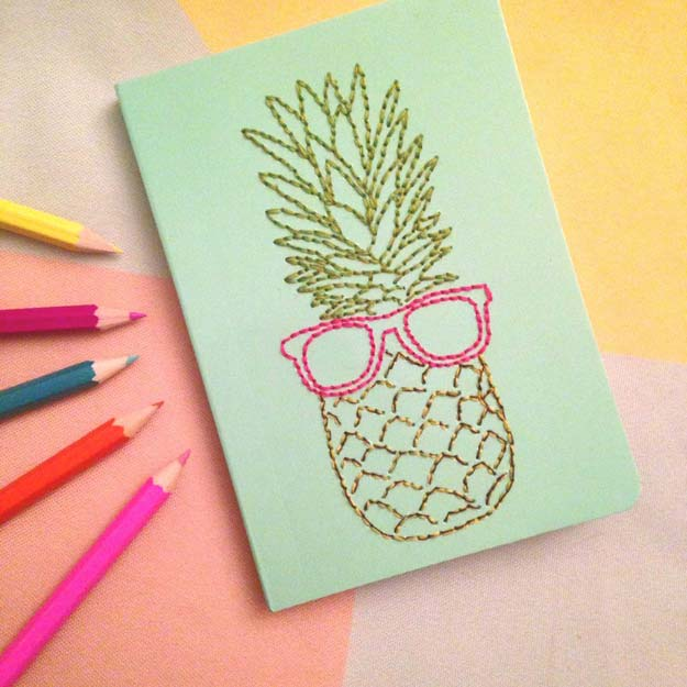 Cool Embroidery Projects for Teens - Step by Step Embroidery Tutorials - DIY Embroidered Notebook - Awesome Embroidery Projects for Teenagers - Cool Embroidery Crafts for Girls - Creative Embroidery Designs - Best Embroidery Wall Art, Room Decor - Great Embroidery Gifts, Free Embroidery Patterns for Girls, Women and Tweens http://diyprojectsforteens.com/cool-embroidery-projects-teens