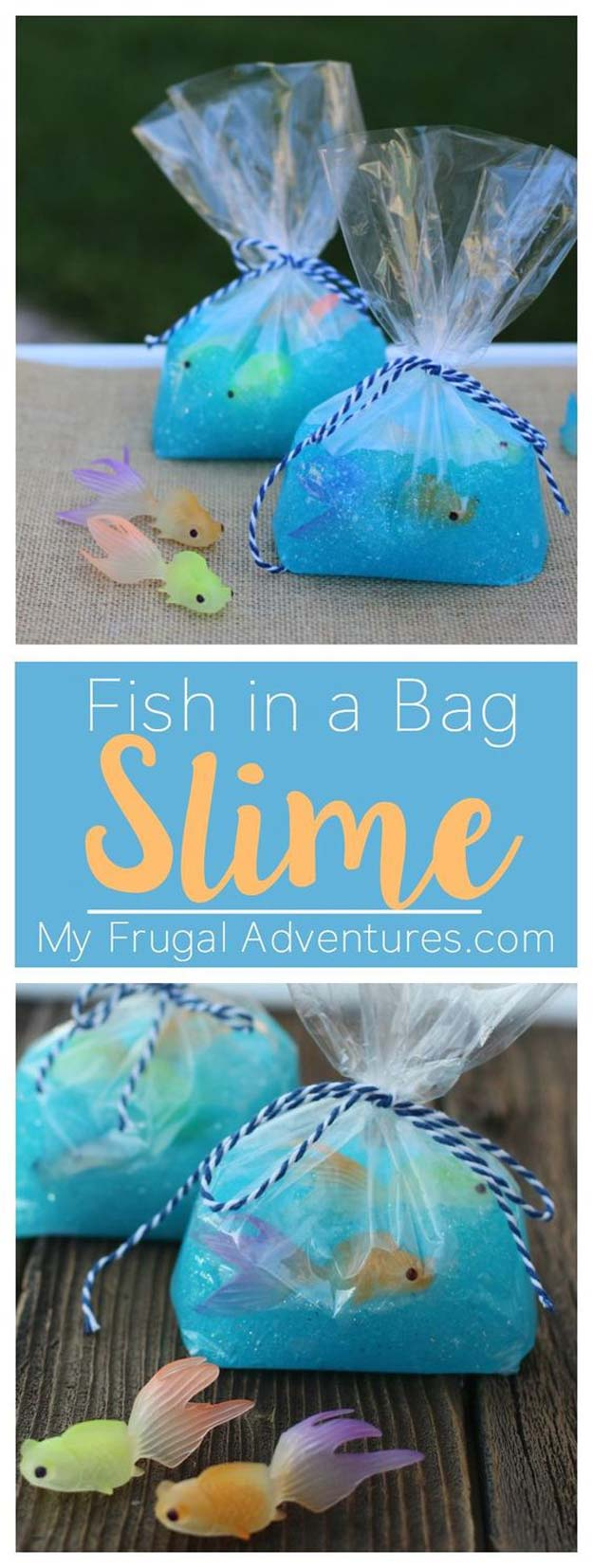 Best DIY Slime Recipes - DIY Fish in a Bag Slime - Cool and Easy Slime Recipe Ideas Without Glue, Without Borax, For Kids, With Liquid Starch, Cornstarch and Laundry Detergent - How to Make Slime at Home - Fun Crafts and DIY Projects for Teens, Kids, Teenagers and Teens - Galaxy and Glitter Slime, Edible Slime #slime #slimerecipes #slimes #diyslime #teencrafts #diyslime
