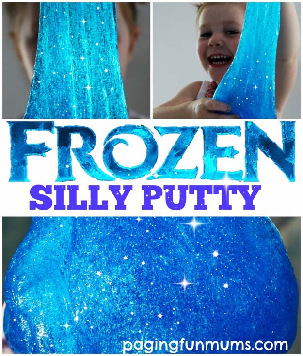 Best DIY Slime Recipes - DIY 'Frozen' Silly Putty - Cool and Easy Slime Recipe Ideas Without Glue, Without Borax, For Kids, With Liquid Starch, Cornstarch and Laundry Detergent - How to Make Slime at Home - Fun Crafts and DIY Projects for Teens, Kids, Teenagers and Teens - Galaxy and Glitter Slime, Edible Slime #slime #slimerecipes #slimes #diyslime #teencrafts #diyslime