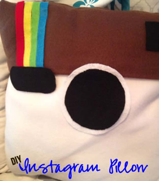 DIY Pillows and Fun Pillow Projects - DIY Instagram Pillow - Creative Decorative Cases and & 45 Fun DIY pillows - DIY Projects for Teens pillowsntoast.com