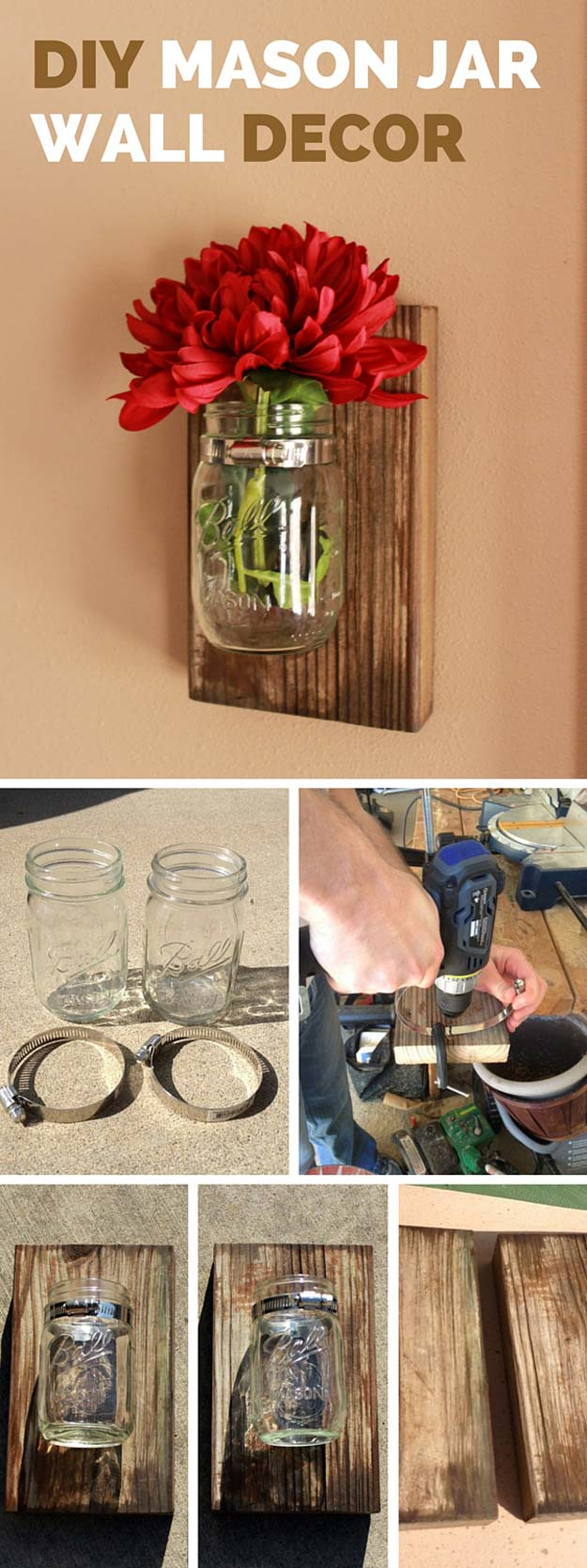 Diy Mason Jar Wall Decor Diy Projects For Teens