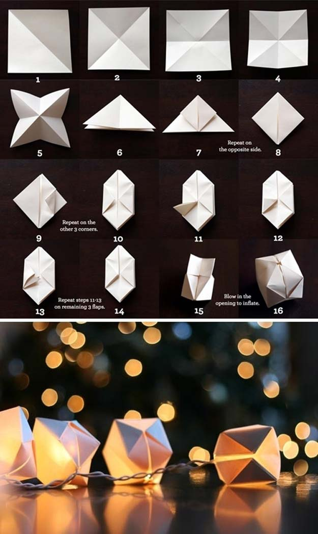 40 Cool DIY Ideas with String Lights - DIY Projects for Teens