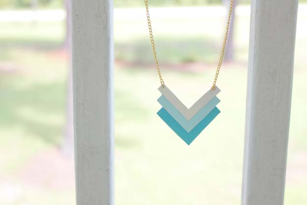 DIY Necklace Ideas - DIY Paper Geometric Necklace - Pendant, Beads, Statement, Choker, Layered Boho, Chain and Simple Looks - Creative Jewlery Making Ideas for Women and Teens, Girls - Crafts and Cool Fashion Ideas for Teenagers