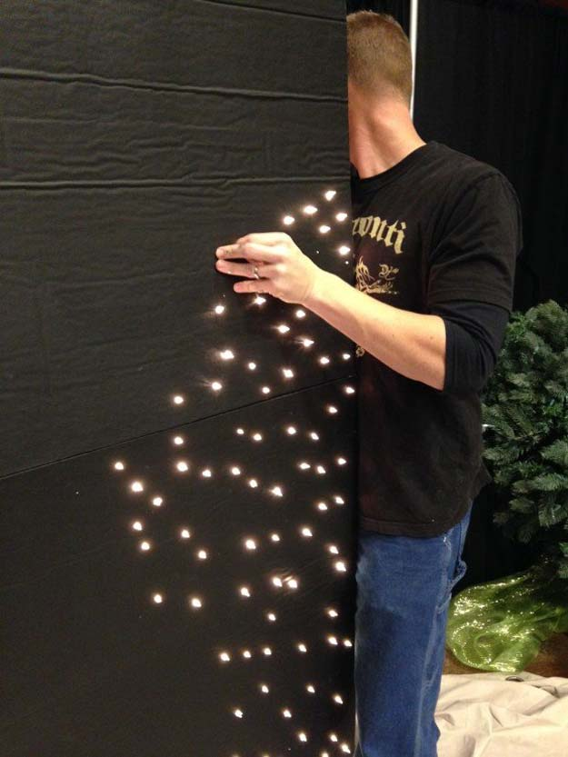 Cool Ways To Use Christmas Lights - DIY Particle Board Lights - Best Easy DIY Ideas for String Lights for Room Decoration, Home Decor and Creative DIY Bedroom Lighting - Creative Christmas Light Tutorials with Step by Step Instructions - Creative Crafts and DIY Projects for Teens, Teenagers and Adults #diyideas #stringlights #diydecor #teencrafts