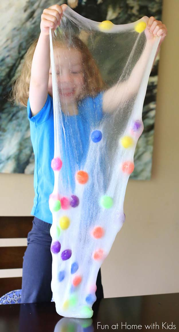 Best DIY Slime Recipes - DIY Polka Dot Slime - Cool and Easy Slime Recipe Ideas Without Glue, Without Borax, For Kids, With Liquid Starch, Cornstarch and Laundry Detergent - How to Make Slime at Home - Fun Crafts and DIY Projects for Teens, Kids, Teenagers and Teens - Galaxy and Glitter Slime, Edible Slime http://diyprojectsforteens.com/diy-slime-recipes