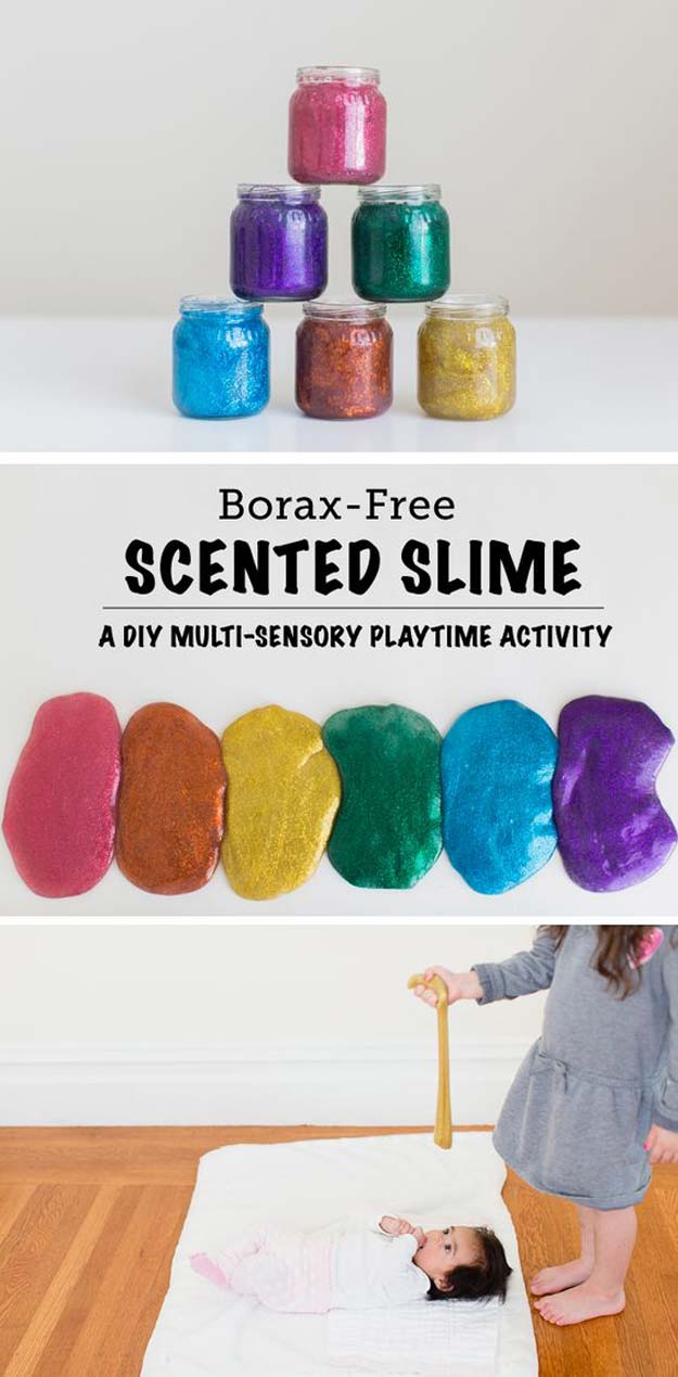 Best DIY Slime Recipes - DIY Rainbow Scented Glitter Slime - Cool and Easy Slime Recipe Ideas Without Glue, Without Borax, For Kids, With Liquid Starch, Cornstarch and Laundry Detergent - How to Make Slime at Home - Fun Crafts and DIY Projects for Teens, Kids, Teenagers and Teens - Galaxy and Glitter Slime, Edible Slime #slime #slimerecipes #slimes #diyslime #teencrafts #diyslime