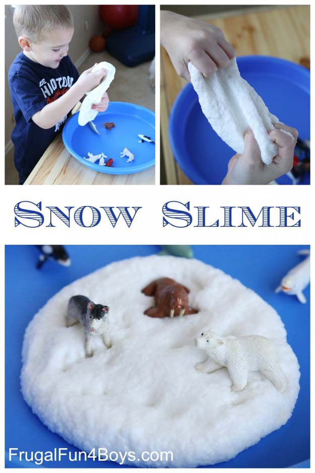 Best DIY Slime Recipes - DIY Snow Slime - Cool and Easy Slime Recipe Ideas Without Glue, Without Borax, For Kids, With Liquid Starch, Cornstarch and Laundry Detergent - How to Make Slime at Home - Fun Crafts and DIY Projects for Teens, Kids, Teenagers and Teens - Galaxy and Glitter Slime, Edible Slime http://diyprojectsforteens.com/diy-slime-recipes