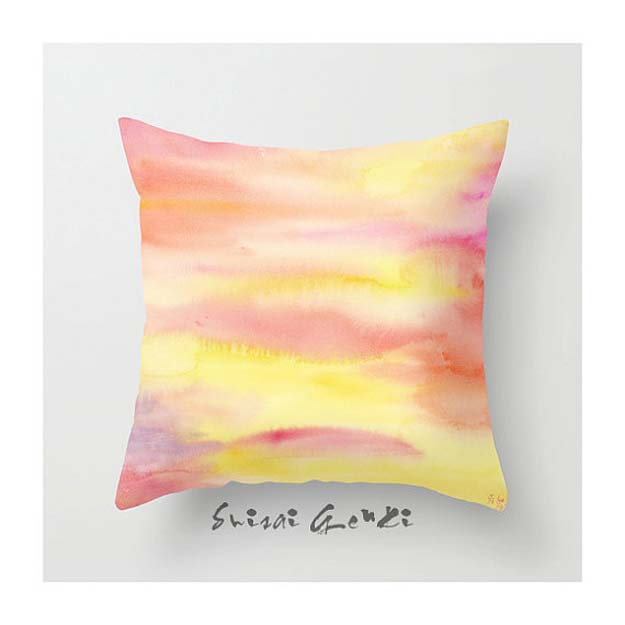 DIY Pillows and Fun Pillow Projects - DIY Watercolor Pillows - Creative Decorative Cases and