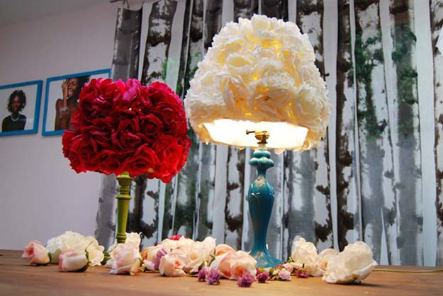 diy-faux-flower-lampshade