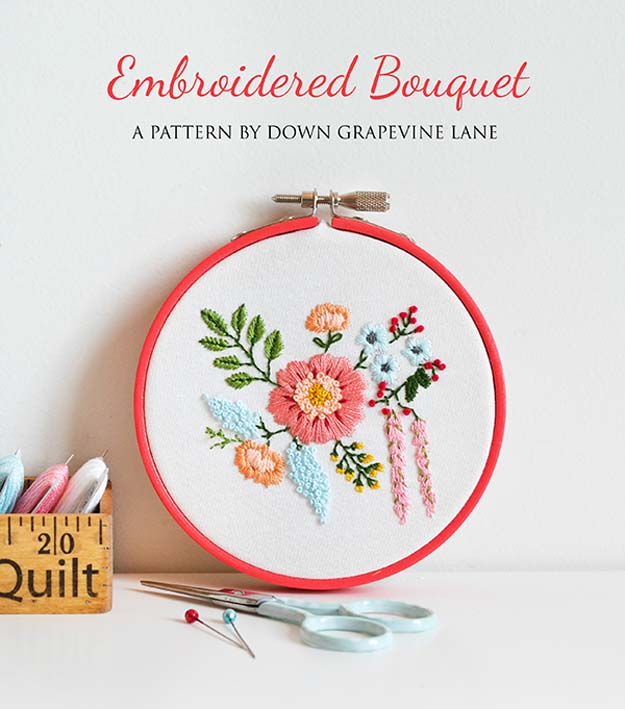 Cool Embroidery Projects for Teens - Step by Step Embroidery Tutorials - Embroidered Bouquet - Awesome Embroidery Projects for Teenagers - Cool Embroidery Crafts for Girls - Creative Embroidery Designs - Best Embroidery Wall Art, Room Decor - Great Embroidery Gifts, Free Embroidery Patterns for Girls, Women and Tweens http://diyprojectsforteens.com/cool-embroidery-projects-teens