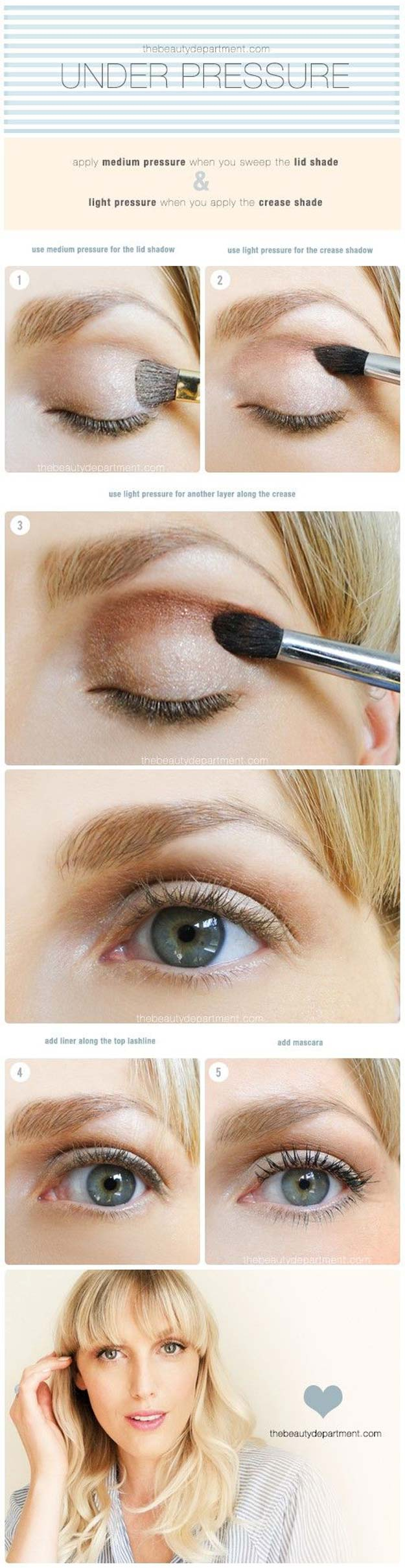 Best Eyeshadow Tutorials - The Eye Shadow Skills - Easy Step by Step How To For Eye Shadow - Cool Makeup Tricks and Eye Makeup Tutorial With Instructions - Quick Ways to Do Smoky Eye, Natural Makeup, Looks for Day and Evening, Brown and Blue Eyes - Cool Ideas for Beginners and Teens http://diyprojectsforteens.com/best-eyeshadow-tutorials