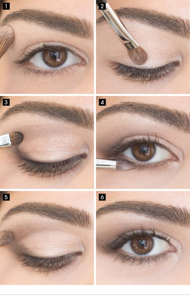 Best Eyeshadow Tutorials - Easy Eye Look - Easy Step by Step How To For Eye Shadow - Cool Makeup Tricks and Eye Makeup Tutorial With Instructions - Quick Ways to Do Smoky Eye, Natural Makeup, Looks for Day and Evening, Brown and Blue Eyes - Cool Ideas for Beginners and Teens http://diyprojectsforteens.com/best-eyeshadow-tutorials