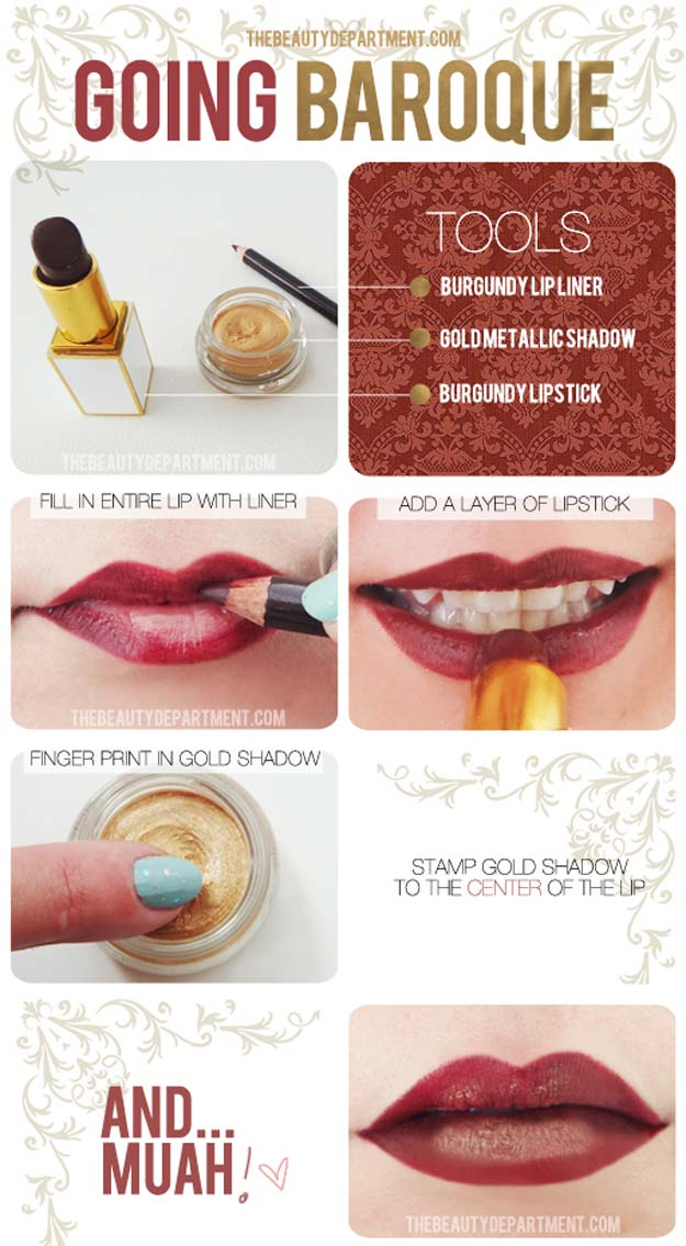 Lipstick Tutorials - Best Step by Step Makeup Tutorial How To - Fall Fashion Lip Translation - Easy and Quick Ways to Apply Lipstick and Awesome Beauty Ideas - Cool Ideas for Teen Makeup for School, Party and Special Occasion - Makeup Tutorials for Beginners - Lip Liner Tips and Tricks to Add Volume, DIY Lip Techniques for Fuller Lips - DIY Projects and Crafts for Teens