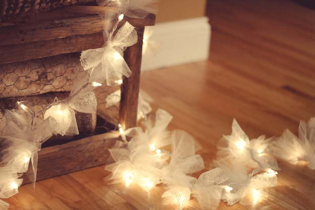 Cool Ways To Use Christmas Lights - Firefly Christmas Lights - Best Easy DIY Ideas for