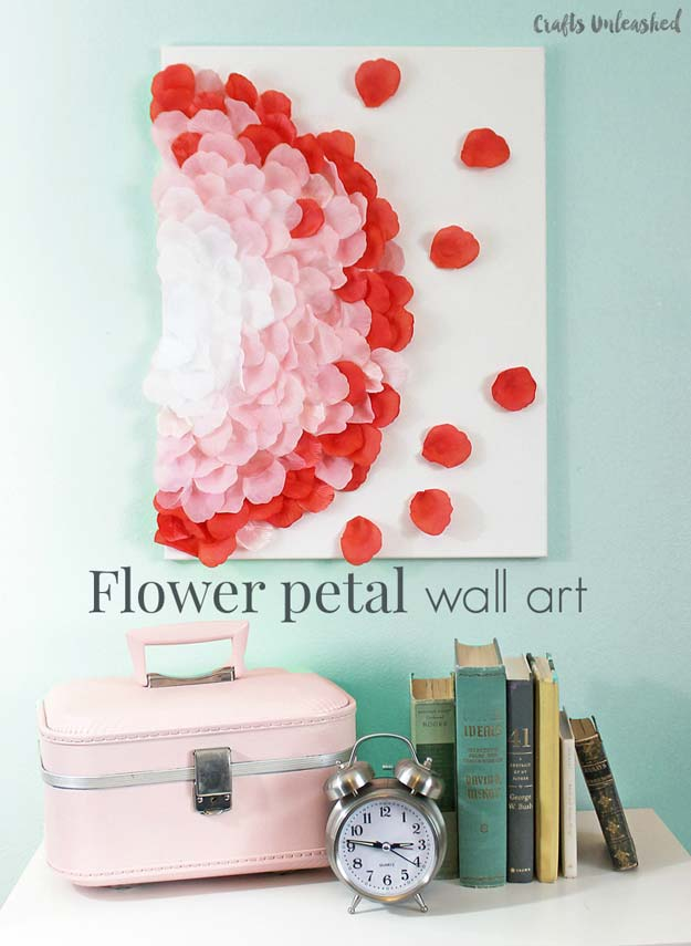 Cool DIY Room Decor Ideas in Red - Flower Petal Art Wall Decor - Creative Home Decor, Wall Art and Bedroom Crafts to Accent Your Red Room - Creative Craft Projects and Quick Arts and Crafts Ideas for Teens and Adults - Easy Ways To Decorate on A Budget http://diyprojectsforteens.com/diy-room-decor-red