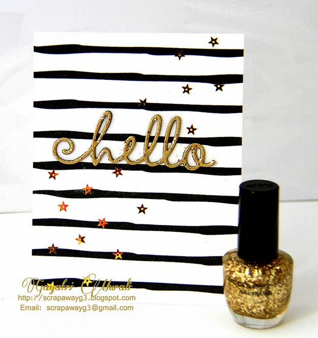 DIY Crafts Using Nail Polish - Gold Embellishment Tutorial - Fun, Cool, Easy and Cheap Craft Ideas for Girls, Teens, Tweens and Adults | Wire Flowers, Glue Gun Craft Projects and Jewelry Made From nailpolish - Water Marble Tutorials and How To With Step by Step Instructions http://diyprojectsforteens.com/best-nail-polish-crafts