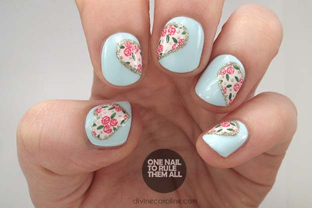 Valentine Nail Art Ideas - Hearts and Flowers - Cute and Cool Looks For Valentines Day Nails - Hearts, Gradients, Red, Black and Pink Designs - Easy Ideas for DIY Manicures with Step by Step Tutorials - Fun Ideas for Teens, Teenagers and Women