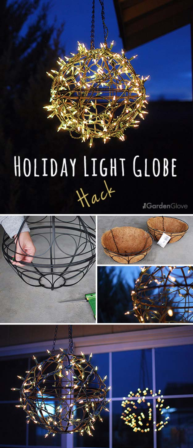 Cool Ways To Use Christmas Lights - Holiday Light Globe Hack - Best Easy DIY Ideas for String Lights for Room Decoration, Home Decor and Creative DIY Bedroom Lighting - Creative Christmas Light Tutorials with Step by Step Instructions - Creative Crafts and DIY Projects for Teens, Teenagers and Adults http://diyprojectsforteens.com/diy-projects-string-lights