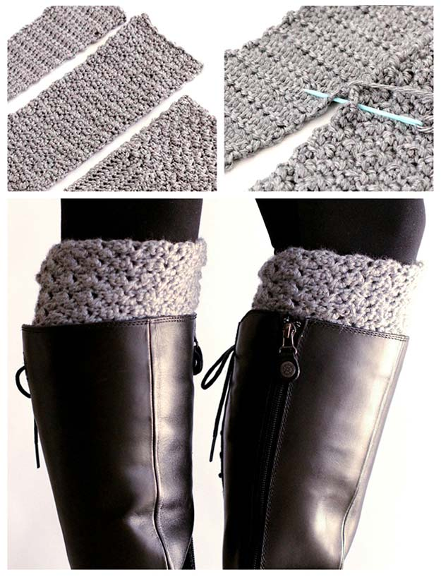 Crochet Patterns and Projects for Teens - Easy Reversible Crochet Boot Cuffs - Best Free Patterns and Tutorials for Crocheting Cute DIY Gifts, Room Decor and Accessories - How To for Beginners - Learn How To Make a Headband, Scarf, Hat, Animals and Clothes DIY Projects and Crafts for Teenagers #crochet #crafts #teencrafts #freecrochet #crochetpatterns