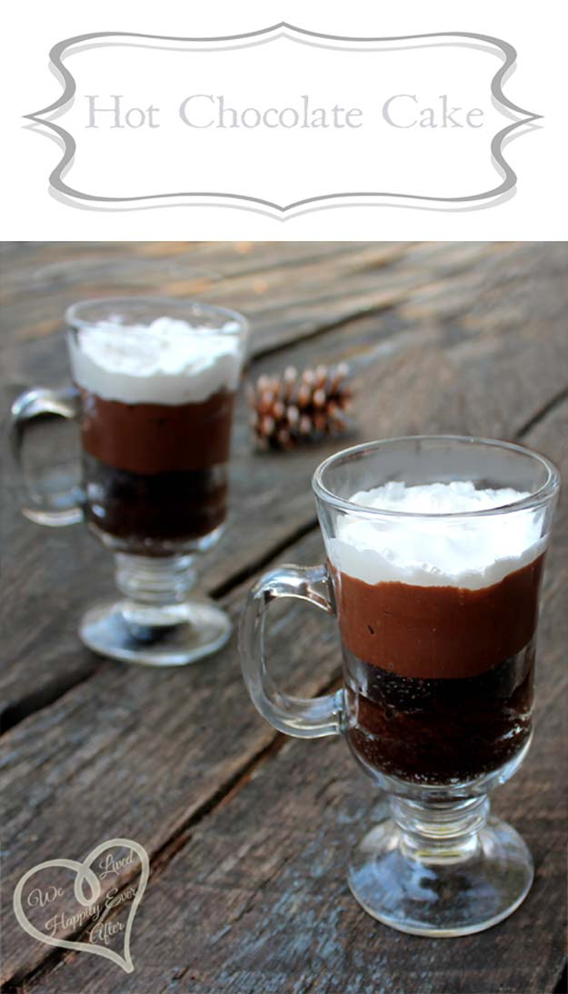 Easy Mug Cake Recipes - Hot Chocolate Cake - Best Microwave Cakes and Ideas for Baking Ckae in The Microwave - Chocolate, Vanilla, Healthy, Snickerdoodle, Peanut Butter, Bownie and Nutella - Step by Step Tutorials and Instructions - Besy DIY Projects and Recipes for Teens and Teenagers - http://diyprojectsforteens.com/easy-mug-cake-recipes