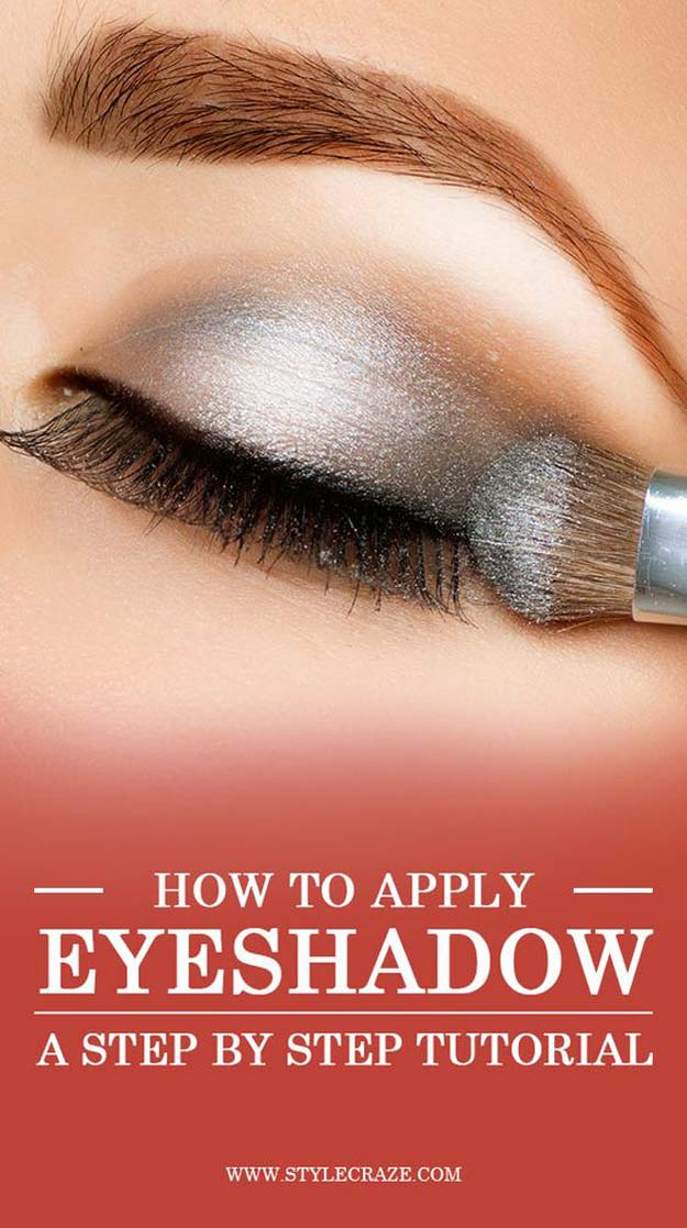 Best Eyeshadow Tutorials - How to Apply Eyeshadow Perfectly - Easy Step by Step How To For Eye Shadow - Cool Makeup Tricks and Eye Makeup Tutorial With Instructions - Quick Ways to Do Smoky Eye, Natural Makeup, Looks for Day and Evening, Brown and Blue Eyes - Cool Ideas for Beginners and Teens http://diyprojectsforteens.com/best-eyeshadow-tutorials