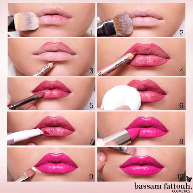 Lipstick Tutorials - Best Step by Step Makeup Tutorial How To - How to Apply Lipstick Properly to Stay Longer - Easy and Quick Ways to Apply Lipstick and Awesome Beauty Ideas - Cool Ideas for Teen Makeup for School, Party and Special Occasion - Makeup Tutorials for Beginners - Lip Liner Tips and Tricks to Add Volume, DIY Lip Techniques for Fuller Lips - DIY Projects and Crafts for Teens