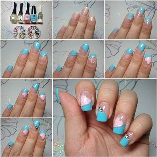 Valentine Nail Art Ideas - How to Make Pretty Heart Shaped Nail Art - Cute and Cool Looks For Valentines Day Nails - Hearts, Gradients, Red, Black and Pink Designs - Easy Ideas for DIY Manicures with Step by Step Tutorials - Fun Ideas for Teens, Teenagers and Women http://diyprojectsforteens.com/valentine-nail-art-ideas