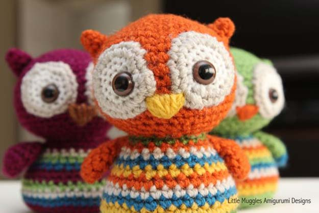 Free Crochet Patterns and Projects for Teens - Baby Owl Pattern - Best Free Patterns and Tutorials for Crocheting Cute DIY Gifts, Room Decor and Accessories - How To for Beginners - Learn How To Make a Headband, Scarf, Hat, Animals and Clothes DIY Projects and Crafts for Teenagers #crochet #crafts #teencrafts #freecrochet #crochetpatterns